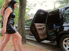 Limousine champagne and tranny
