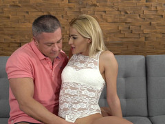 Older man give desired anal drilling to insatiable blonde hottie