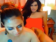 Naughty Couple Shemale Fucking On Cam