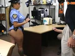Busty latin police woman screwed hard by pawn keeper
