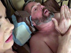 Wife Receives a Pounding While Husband Watches
