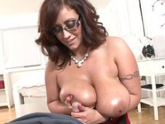 Spex soccer mom titfucking and plus sucking hard dick