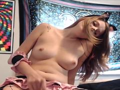 Petite Cosplay Babe Small Tits