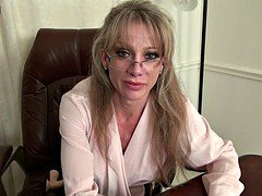 Lovely American mature secretary needs a good fuck