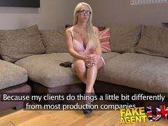 FakeAgentUK Cute Hungarian babe with great tits loves swallowing cum