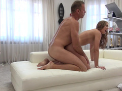 Lithe young lady gets fucked doggystyle by Rocco Siffredi