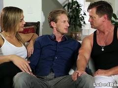 Busty wife cheats on her husband with the masseur