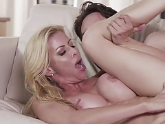 Horny mature pussy seduces son-in-law