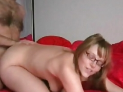 My Mom i`d like to fuck Exposed Hot blonde wife with glasses and stockings