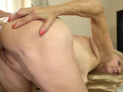 Unbelievable old and young sex action of boy and granny