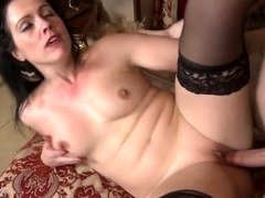 Naughty mother rough fucked by lucky mother fucker