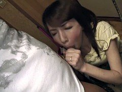 Cheating wife sucking off a big fat dick