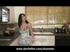 Spraying MILF Rayveness Gets Pounded Stiff in the Kitchen