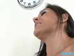 Busty latina cougar banged doggystyle