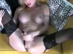 Sexy t-girl in stockings single