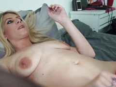 Sexy blue eyed blond MILF with hungry pussy