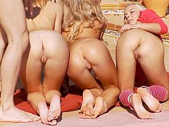 Teens in Anal Foursome