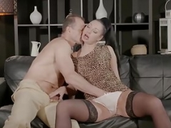 Boobalicious brunette Mom i`d like to fuck Eva Ann gets hammered by mature dick