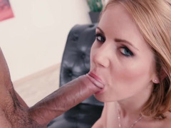 Nutting in the mouth of a cute ass fucked blonde girl