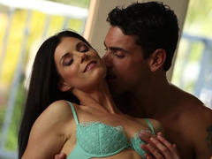 Sensual softcore scene with beautiful couple