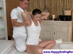 Classy massage babe fucked by sensual masseur