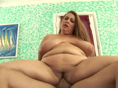 Chubby amateur blonde with big juicy titties gets rammed hard