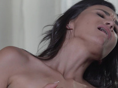Two skinny girls are on top of each other, licking pussy lips