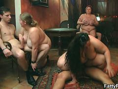 brunette fatty gets screwed at the bar film