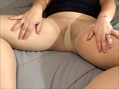 Prepping Nude Pantyhose for a Customer