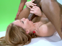 Interracial action with hot cougar and her Ebony penetrator
