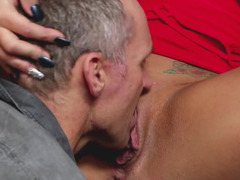 Horny housewife and her man have a lusty hardcore fuck