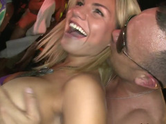 Wild times at a strip club show with sexy ladies and big dick dudes