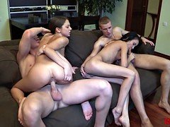 18 Videoz - Perfect double date with swinger sex