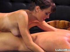 A gorgeous stepmom with the perfect body seducing a young friend of her son