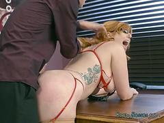 Secretary Lauren Phillips Tries Anal With Hung Boss