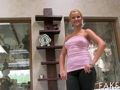Blonde Serbian actress gets her succulent pussy annihilated hard