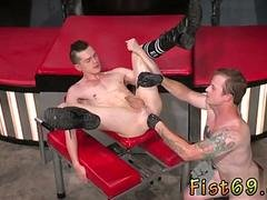 Gay twinks getting fist fucked first time Tatted sweetheart Bruce Bang spots Axel Abysse
