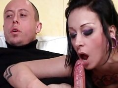 Sexy french emo bitch banged hard and jizzed on a foot