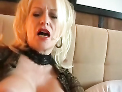 Trashy german mature mummy with ample knockers