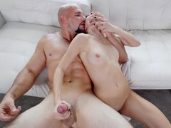 Hottie really likes to have fun with big brutal male