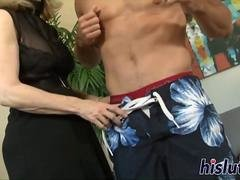 Naughty granny has her juicy pussy drilled