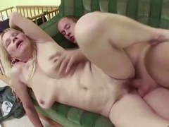 Young-looking Boy Lure natural Bra buddies MILF to get first Get down and dirty