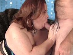 Enormous boobed Lady Lynn takes cock