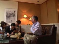 Old man gets pleased by some super hot Japanese porn stars
