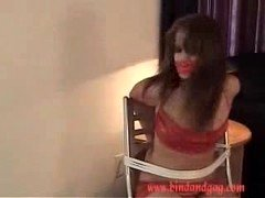 Bound gagged in red