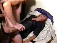 Hooker Traudl gets a rough fuck in her crotch-open pants
