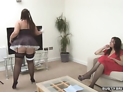 Denise davies entices maid dani amour