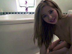 Petite German Step-Sister Caught and Fuck by Her Bro in Bath