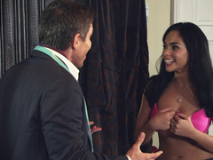 A girl removes her bra and her panties soon come off for some sex