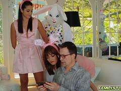 Slut Avi Love got banged by Uncle Bunny from behind